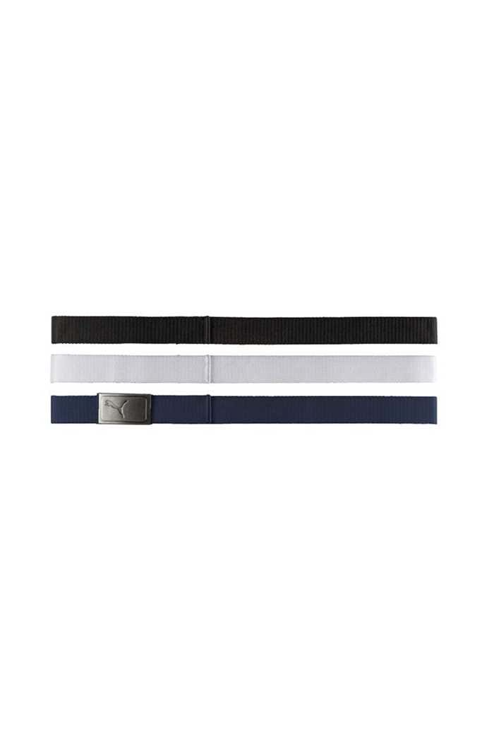 Picture of Puma Golf ZNS 3 in 1 Web Belt Pack - Bright White / Black / Peacoat
