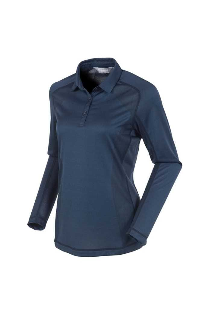 Picture of Sunice ZNS Kendra Body Mapping Long Sleeve Polo Shirt - Midnight