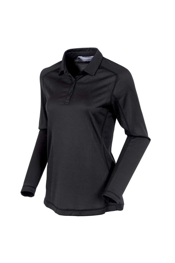 Picture of Sunice ZNS Kendra Body Mapping Long Sleeve Polo Shirt - Black