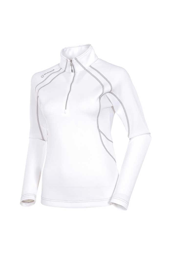 Picture of Sunice ZNS Megan 1/4 Zip Pullover - White / Ombra