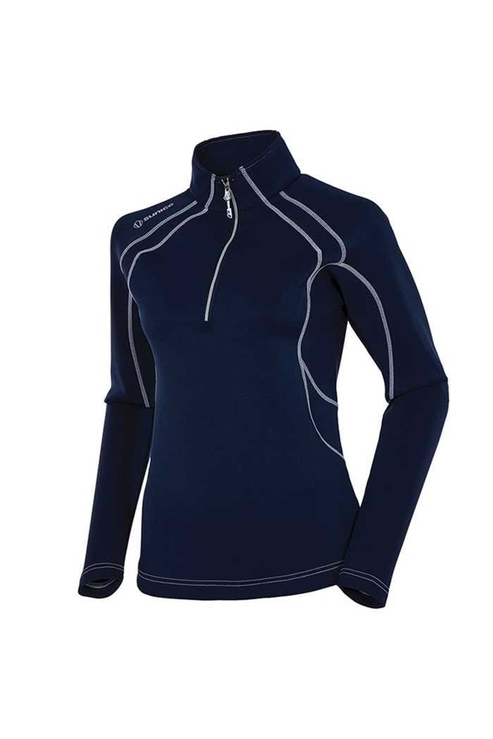 Picture of Sunice zns  Megan 1/4 Zip Pullover - Midnight / Pure White