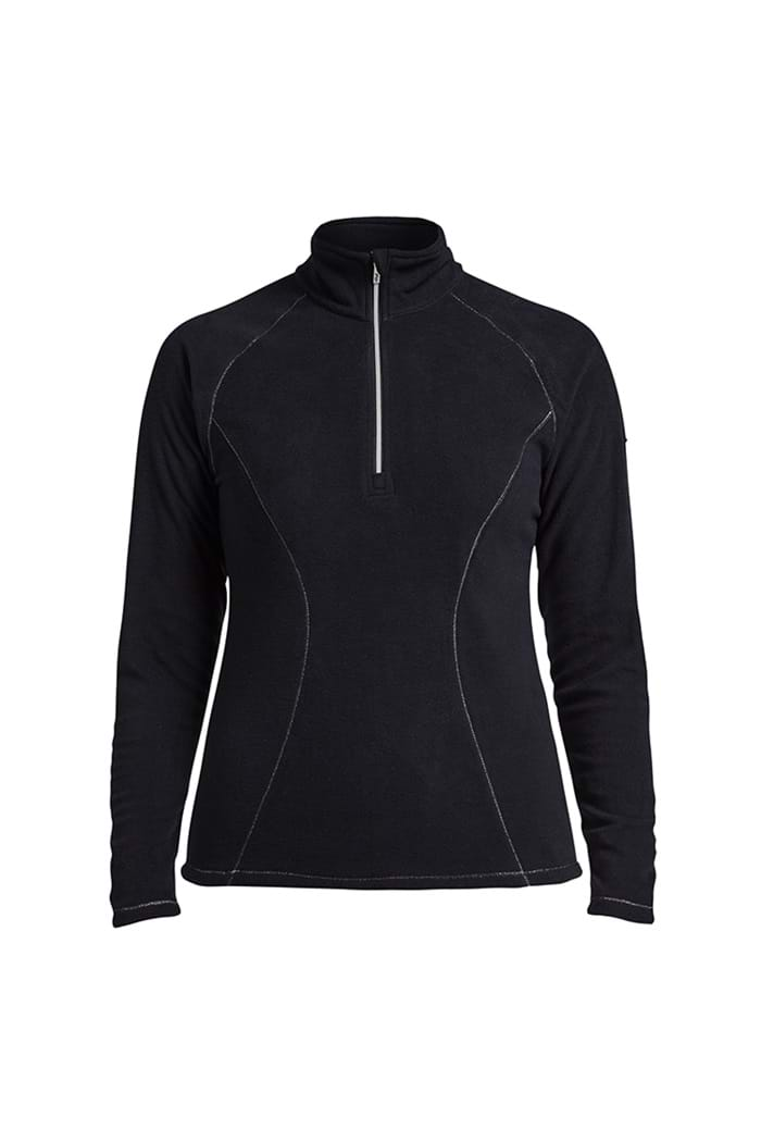 3c2a0e3174a7 Rohnisch Ladies Micro Fleece 1/2 Zip Micro Fleece - Black - Rohnisch ...