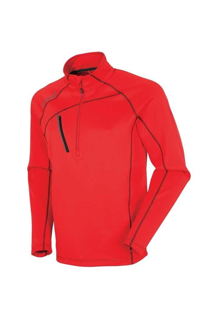 Picture of Sunice ZNS Alexander Thermal 1/2 Zip Sweater - Real Red / Charcoal