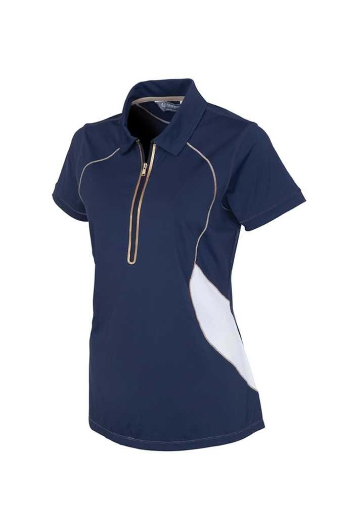 Picture of Sunice zns Tegan Coollite Polo Shirt - Midnight / Golden