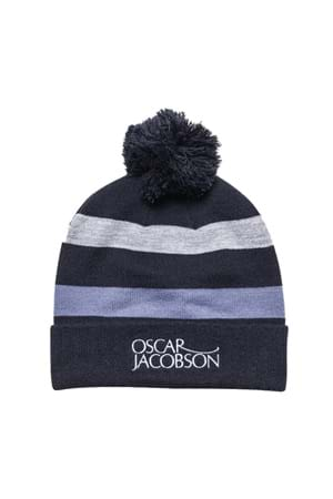 Picture of Oscar Jacobson Lowe Knitted Golf Hat - Navy 216