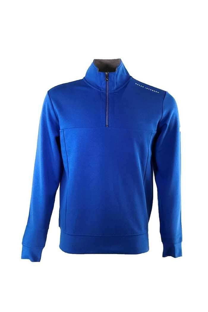 Picture of Oscar Jacobson ZNS Hawkes 1/2 Zip Sweater - Blue 262