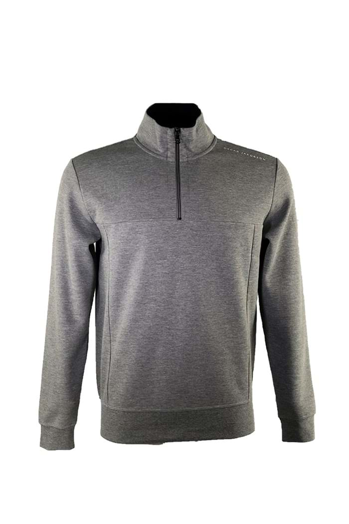 Picture of Oscar Jacobson ZNS Hawkes 1/2 Zip Sweater - Grey 150