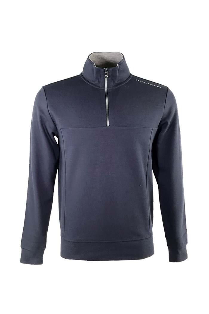 Picture of Oscar Jacobson ZNS Hawkes  1/2 Zip Sweater - Navy 216
