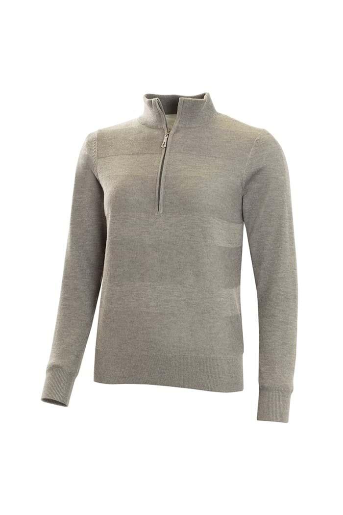 Picture of Green Lamb Gabi Core Raised Stitch Windbarrier Sweater - Grey Marl