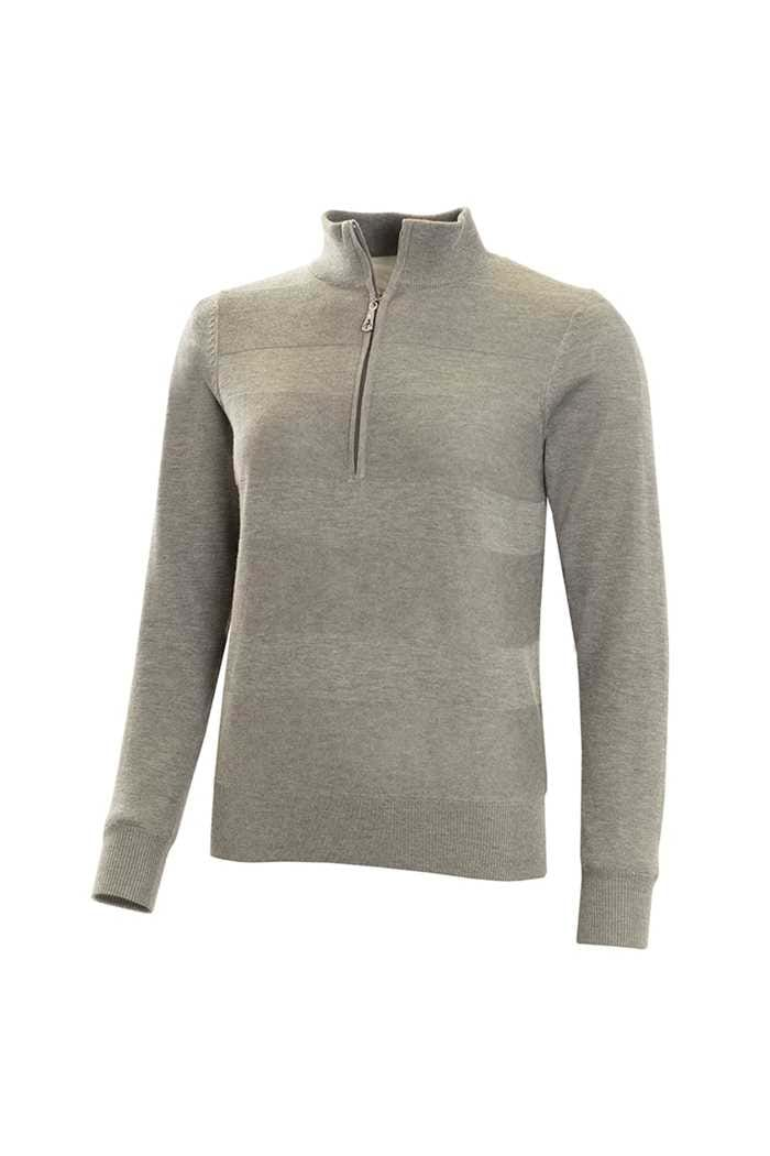 Picture of Green Lamb Gabi Core Raised Stitch Windbarrier Sweater - Grey Marl