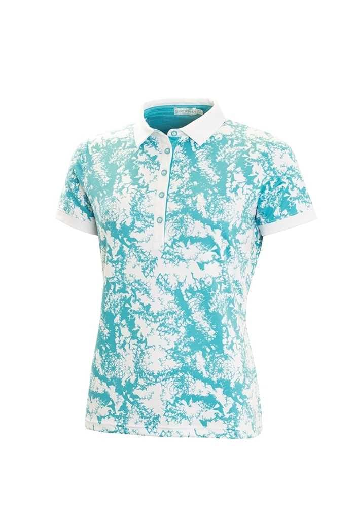 Picture of Green Lamb ZNS Flora Printed Shirt - White / Lagoon