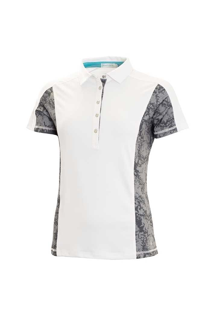 Picture of Green Lamb zns Fleur Shirt with Printed Panels - White / Grey