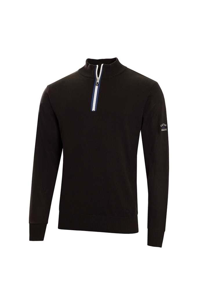 Picture of Cutter & Buck ZNS Tech Lined Windblock Sweater - Black