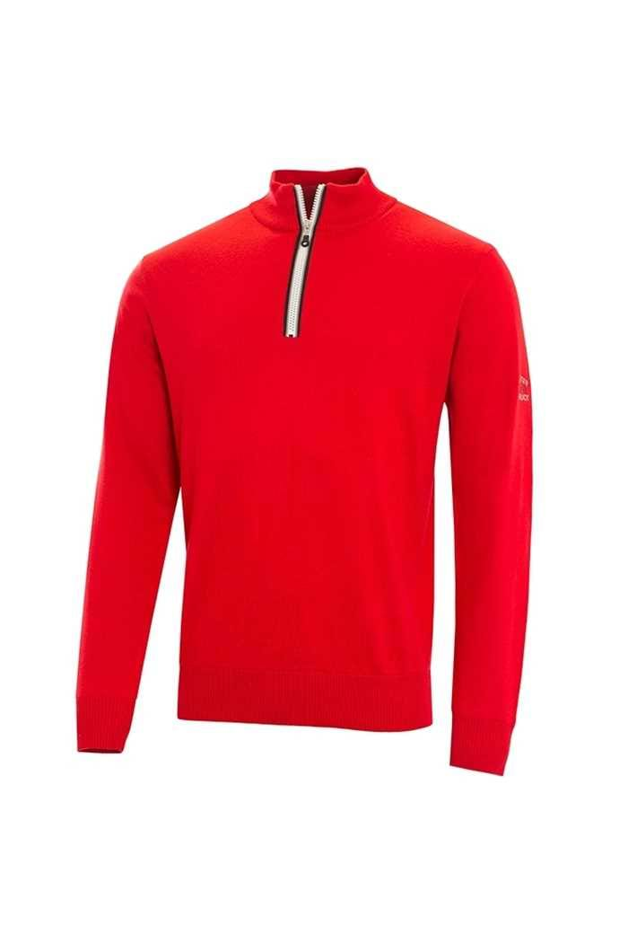Picture of Cutter & Buck Tech Lined Windblock Sweater - Red