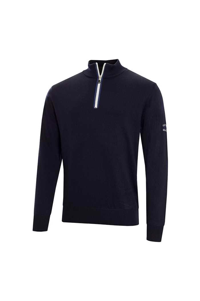 Picture of Cutter & Buck zns  Tech Lined Windblock Sweater - Navy