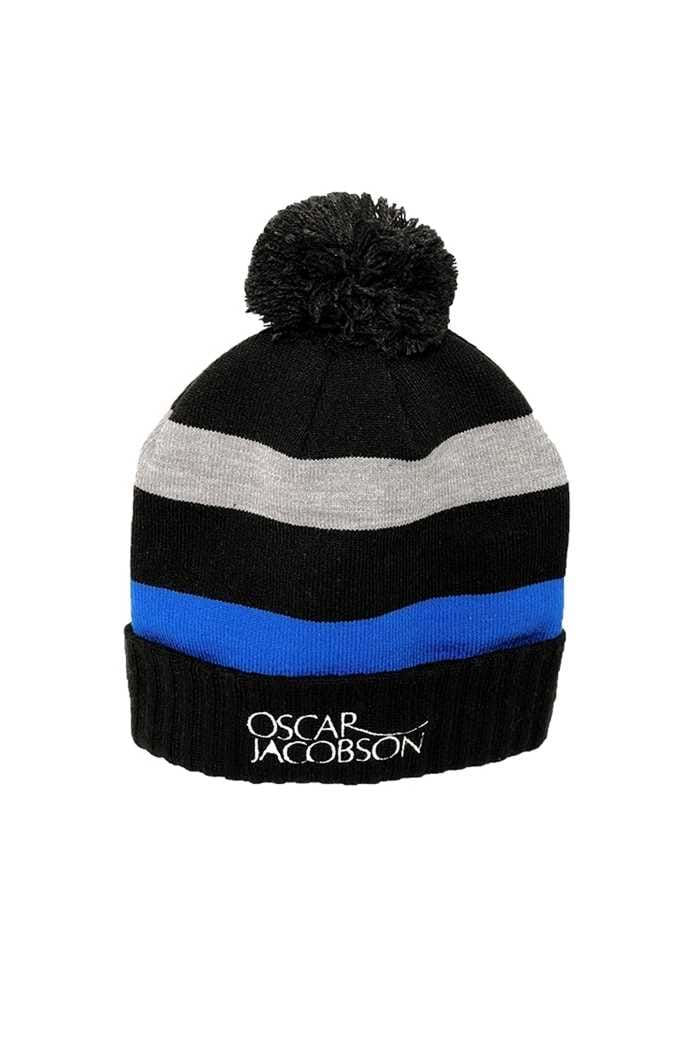 Picture of Oscar Jacobson ZNS Lowe Knitted Golf Hat - Black 311