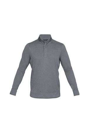 Picture of Under Armour UA Storm SweaterFleece Heather Snap Mock - Grey 513