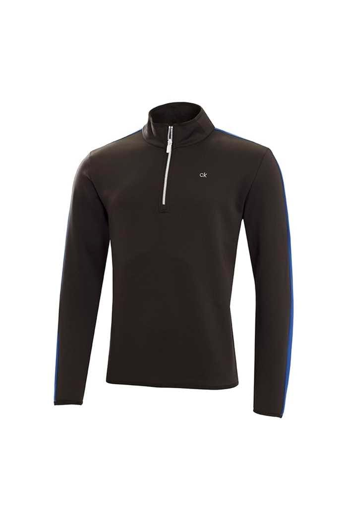 Picture of Calvin Klein Verve 1/2 Zip Performance Top - Black / Royal
