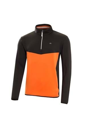 Picture of Calvin  Klein CK Power Half Zip -Black / Orange