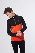Picture of Calvin  Klein CK Power Half Zip -Black / Orange