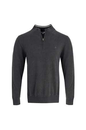 Picture of Calvin Klein CK Heather 1/2 Zip Sweater - Charcoal
