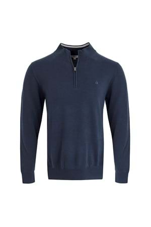 Picture of Calvin Klein CK Heather 1/2 Zip Sweater - Denim