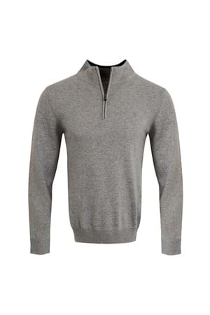 Picture of Calvin Klein CK Heather 1/2 Zip Sweater - Mid Grey