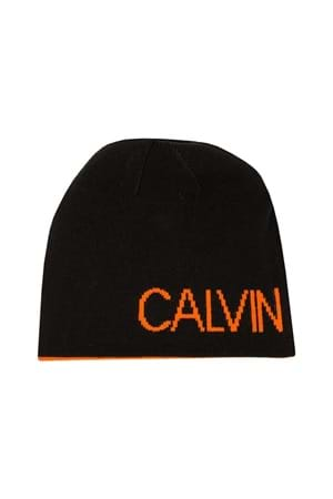Picture of Calvin Klein CK Golf Logo Beanie - Black / Orange