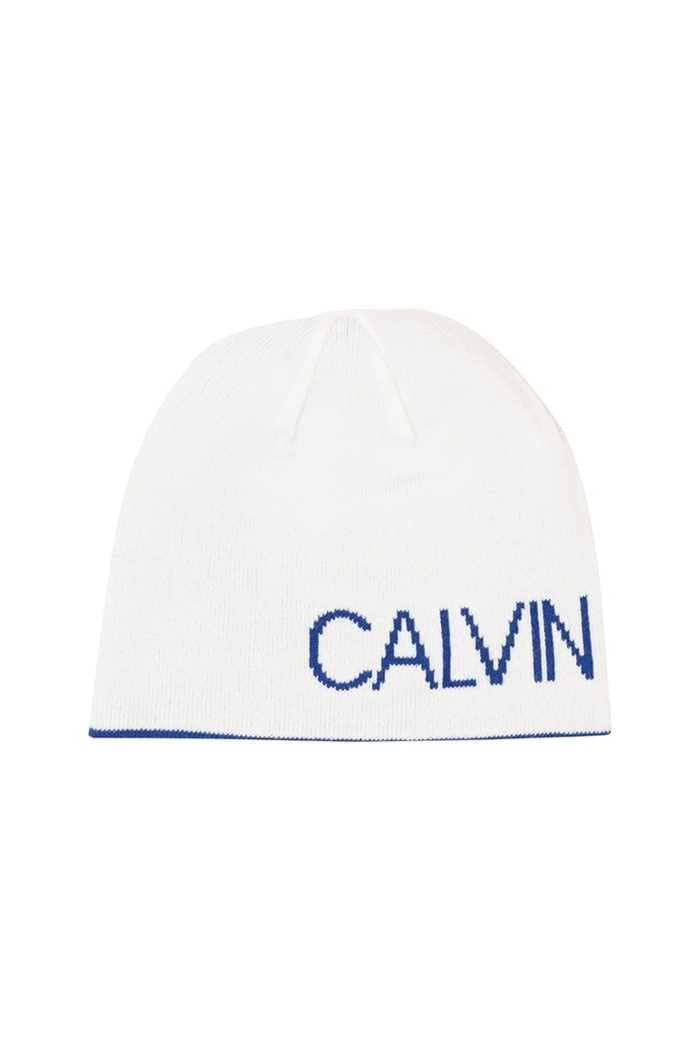 Picture of Calvin Klein CK Golf Logo Beanie - White / Royal