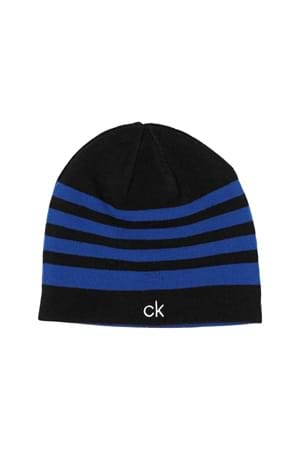 Picture of Calvin Klein CK Stripe Beanie - Black / Royal