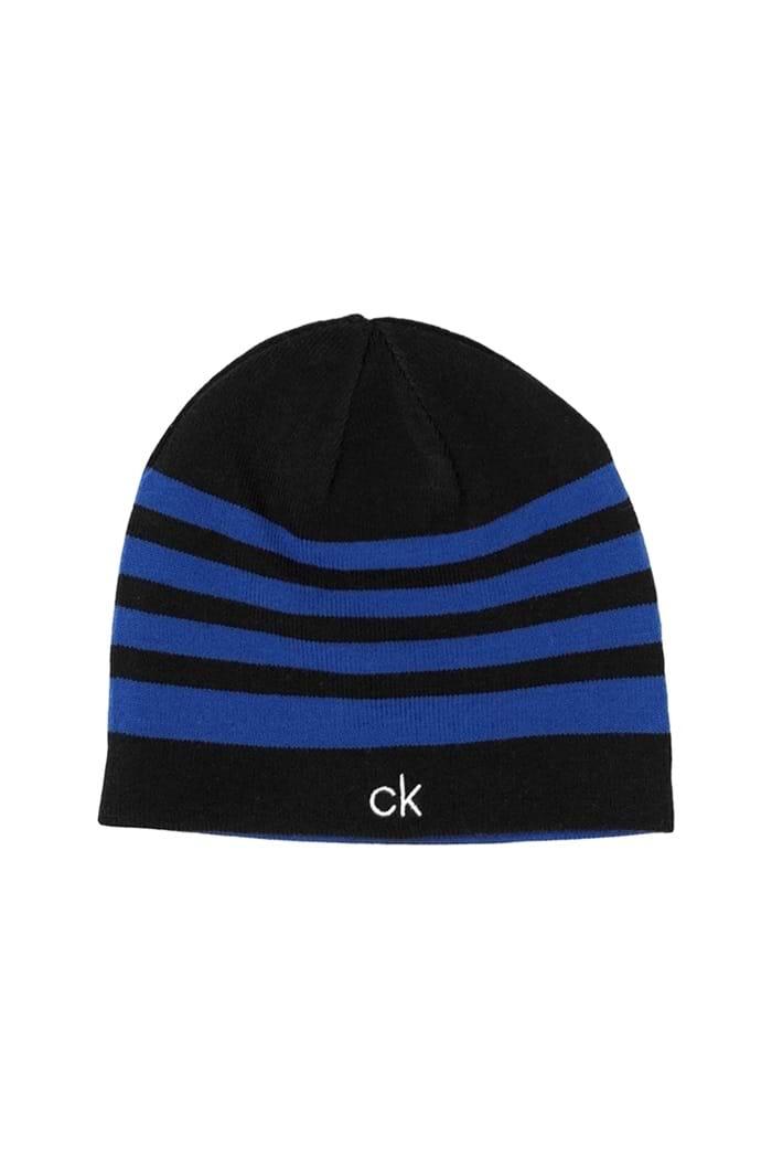 9a39a9b3 Calvin Klein Men's CK Stripe Beanie - Black / Royal - Calvin Klein ...