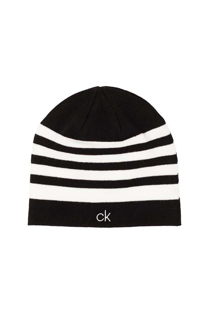 Picture of Calvin klein CK Stripe Beanie - Black / White