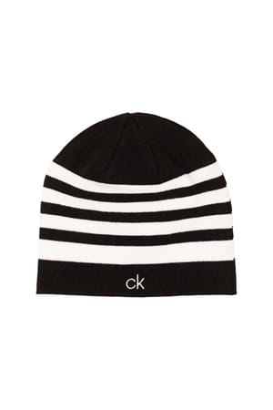 Picture of Calvin klein CK Stripe Beanie - Black / White