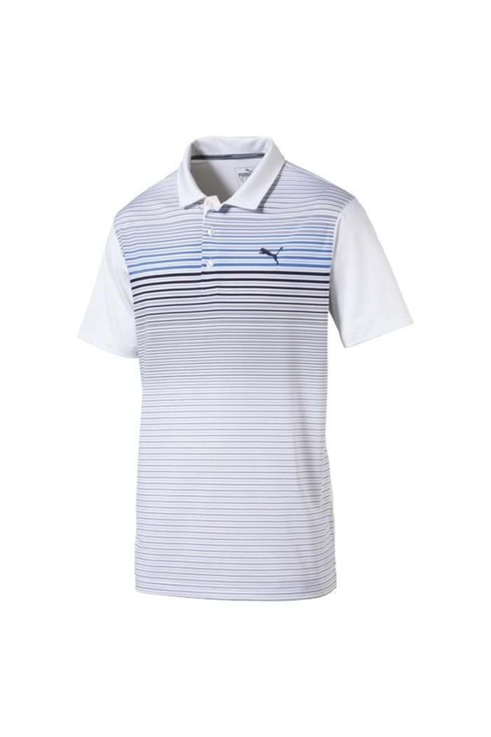 Picture of Puma Golf  Highlight Stripe Polo Shirt - Marina