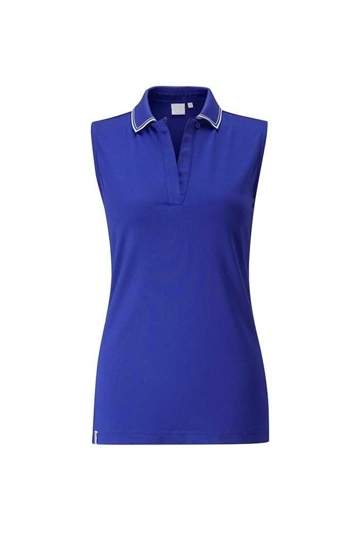 Picture of Ping Collection zns Dee Sleeveless Polo Shirt - Cobalt / White