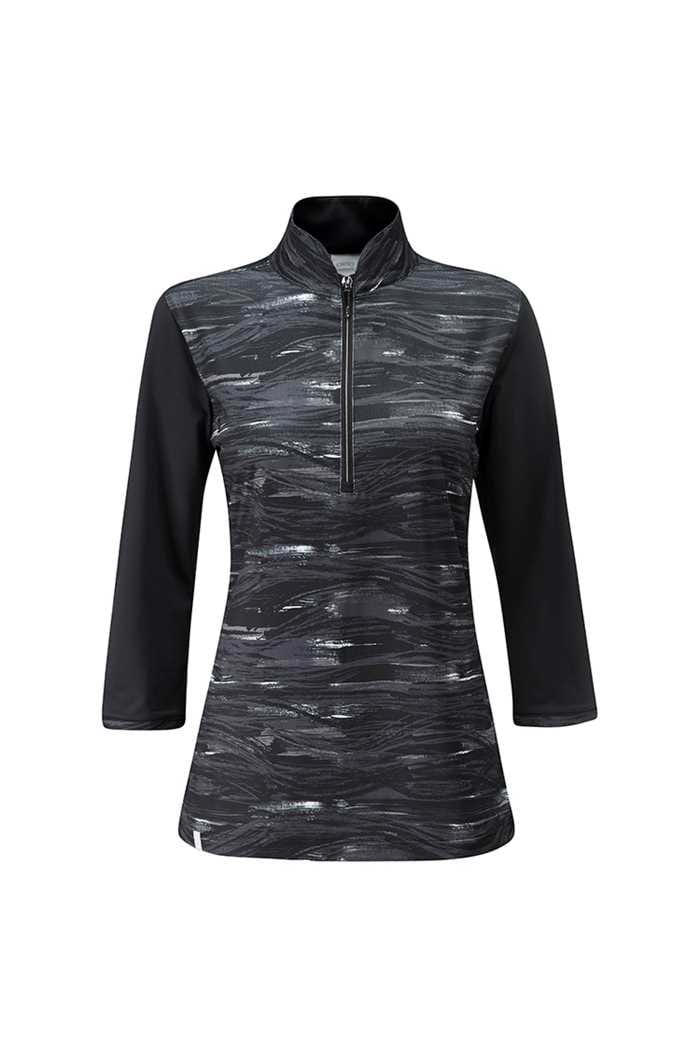 Picture of Ping Collection ZNS Tara 3/4 Sleeve Polo Shirt - Black Multi