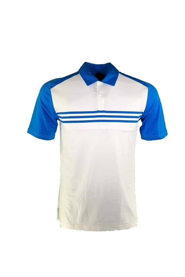 Picture of adidas ZNS Climacool Classic 3 Stripe Polo Shirt - White / Bright Blue