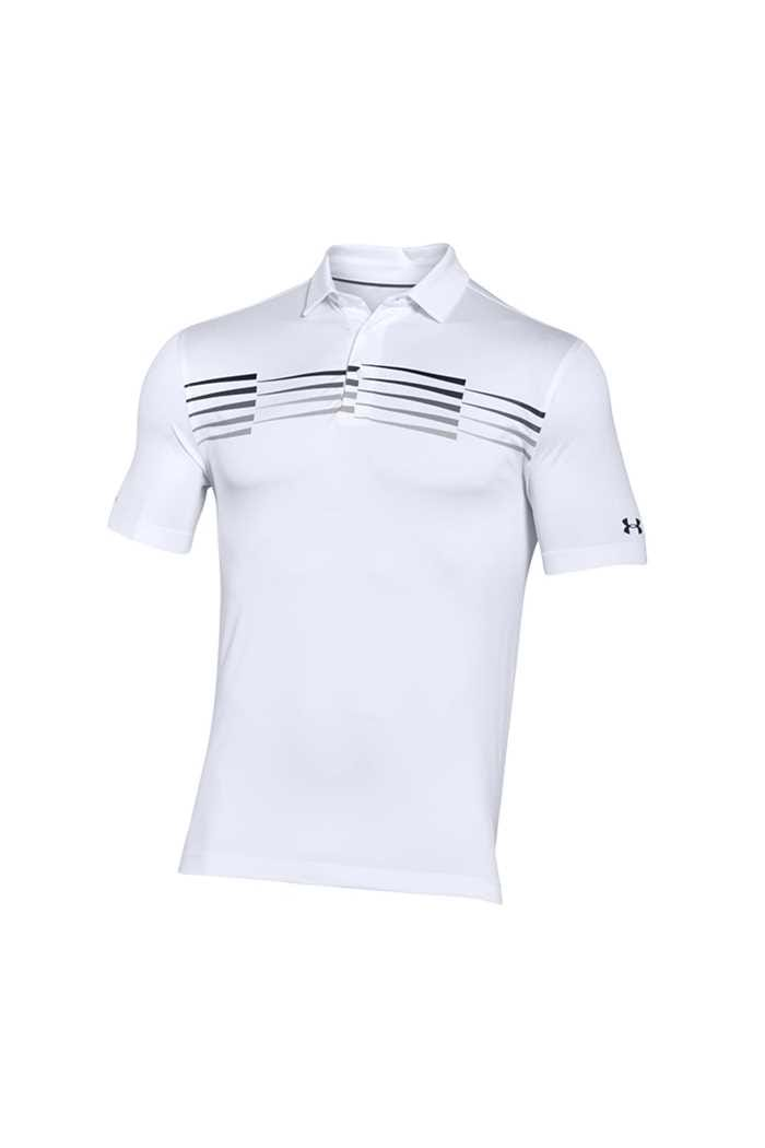 Picture of Under Armour UA Coldblack Ace Graphic Polo Shirt - White 100