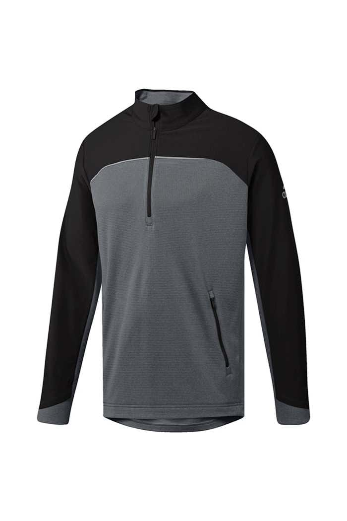 Picture of adidas zns Go To Adapt 1/4 Zip Sweater - Black / Grey Three