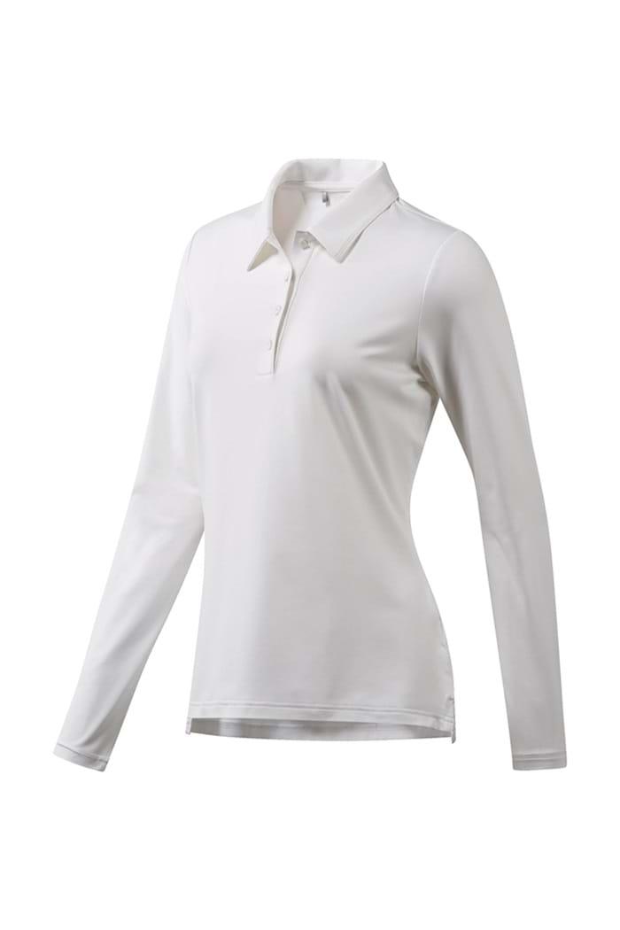 5fd94df8 adidas Ladies Ultimate 365 Long Sleeve Polo Shirt - White - adidas ...