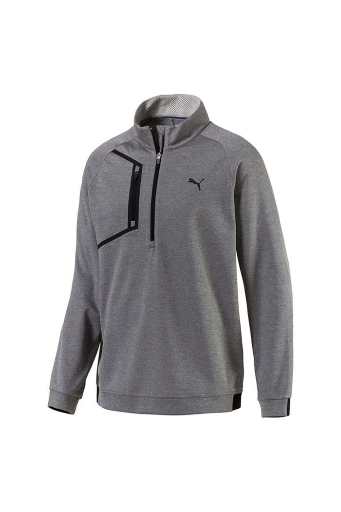 Picture of Puma Golf Envoy 1/4 Zip Sweater - Medium Grey Heather