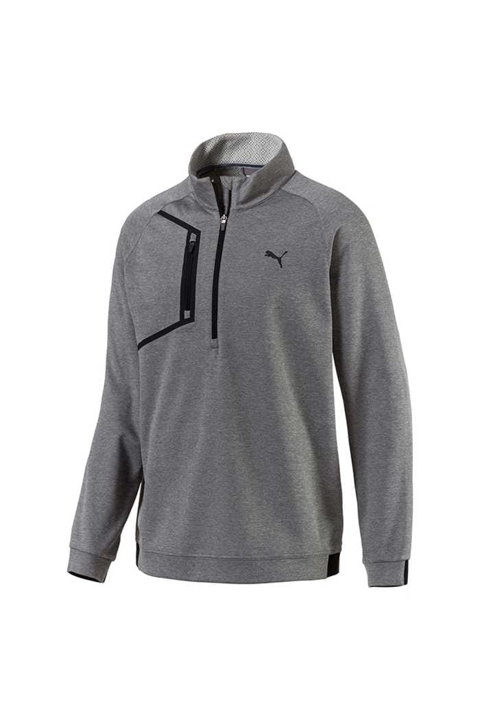 Picture of Puma Golf Envoy 1/4 Zip Sweater - Medium Grey Heather