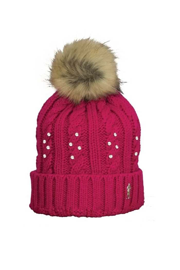 Picture of Surprizeshop zns Winter Crystal Bobble Hat - Pink