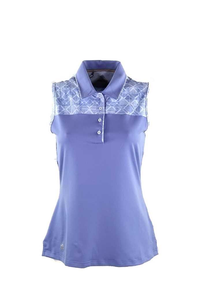 Picture of adidas ZNS Merch Sleeveless Polo Shirt - Chalk / Purple