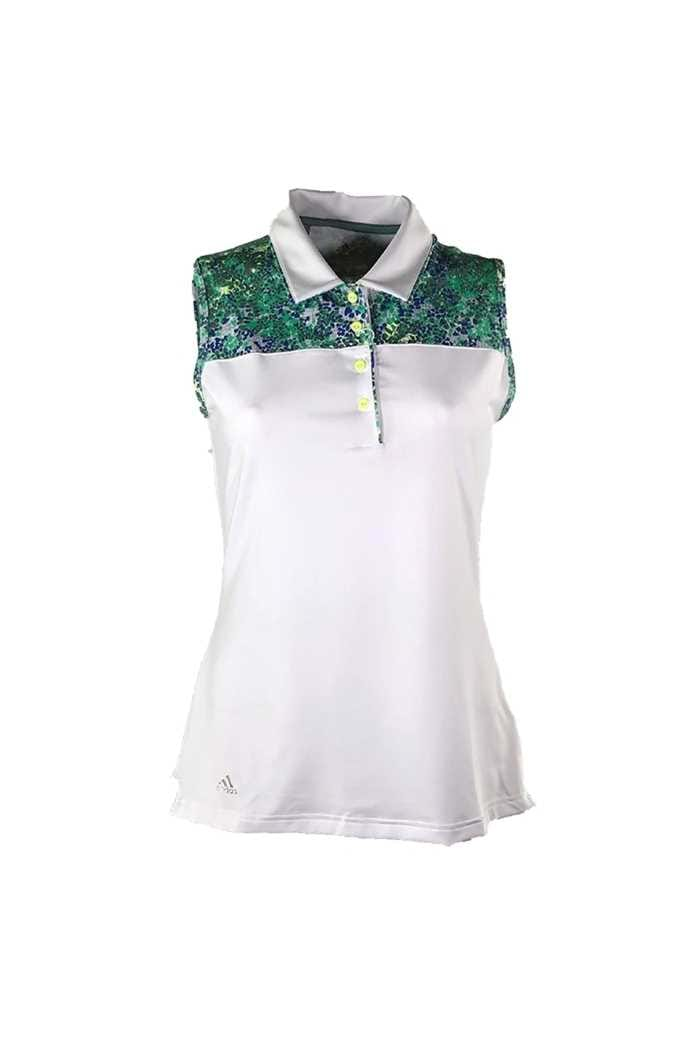 Picture of adidas ZNS Merch Sleeveless Polo Shirt - White / Hi Res Blue