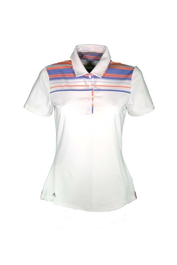 Picture of adidas ZNS Ultimate Merch Polo Shirt - White / Chalk Coral