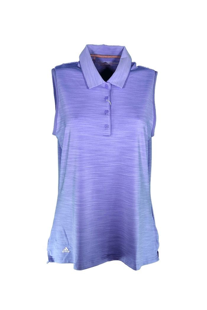 5a82ed5a Picture of adidas zns Ultimate 365 Sleeveless Polo Shirt - Chalk / Purple