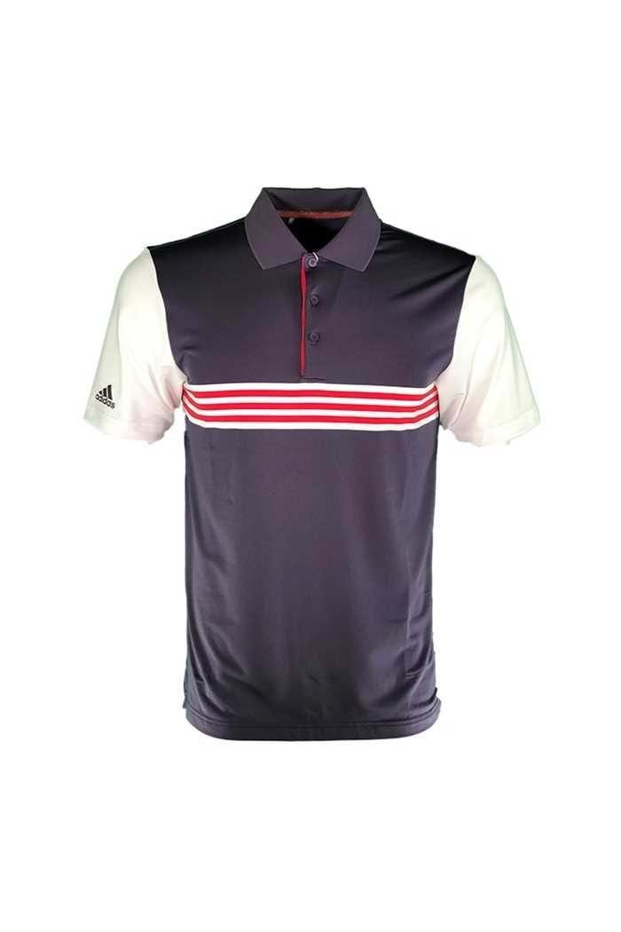 Picture of adidas Ultimate 365 3 Stripe Polo Shirt - Trace Purple