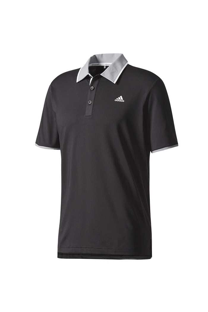 Picture of adidas Climacool Performance Polo Shirt - Black / Mid Grey / White