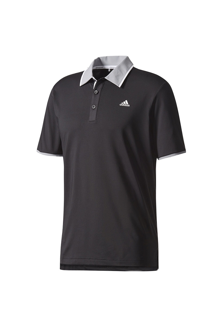 c2f147af Picture of adidas Climacool Performance Polo Shirt - Black / Mid Grey /  White